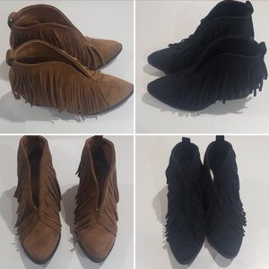 SIZE 7 Coconuts by Matisse Lambert Fringe Booties